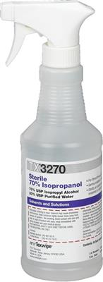Sterile 70% Isopropanol Alcohol 16oz trigger-spray bottles 12/case