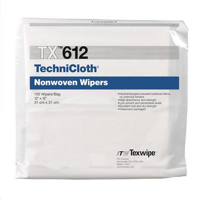 "TechniCloth 12"" x 12"" (31 cm x 31 cm)non woven cellelose/polyester-blend wipers 150 wipes/bag, 10 ba"