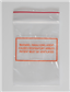 "Warning Paralyzing Agent Bags, 3"" x 4"""