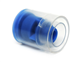 Clear Sleeve w/ Blue Insert Tamper Evident Caps For IV Syringes, 1000/CS