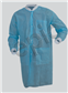 LAB COAT, BLUE LT. WT. SPP, KW, KC, 3PKT, XLG 50/CS